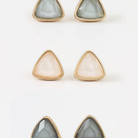 Altar'd State Pearled Triangle Earring Set - Earrings - Jewelry