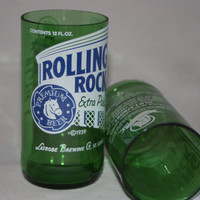 Drinking Glasses - Recycled Beer Bottle - Rolling Rock - 8 oz.