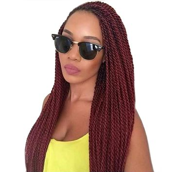 TOMO 14 16 18 20 22Inch 30Roots/Pack Crotchet Braids 16 Colors Synthetic Senegalese Twist Crochet Hair Extensions 7Packs/Lot