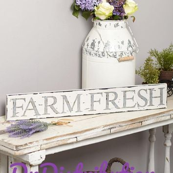 Farm Distressed Wall Sign or Milk Can Fresh Farmhouse Style Accent & Decor