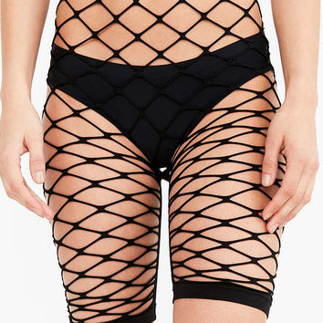 Out From Under Exploded Fishnet Bike Short | Urban Outfitters