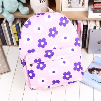 Soft Korean Casual Canvas Backpack = 4887950916