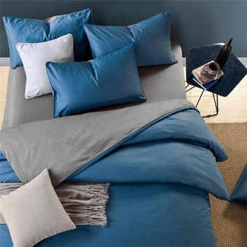 ac PEAPON On Sale Hot Deal Bedroom Bedding Cotton Double Color Bedding Set [45985660953]