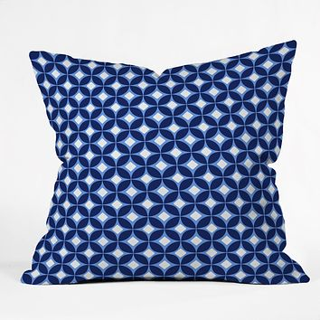 Caroline Okun Indigo Throw Pillow