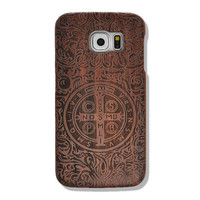Cross Pattern Real Walnut Samsung Galaxy S6 Wood Case, GalaxyS5 Handmade Natural Wooden Case, Galaxy S4 Wood Cover