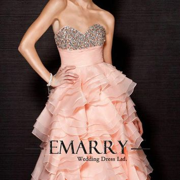 INM-226 New Fashion 2017 Sweetheart Off The Shoulder  Vestido de noiva  Long Prom Dress Tiered Elegant Long Formal Evening Gown