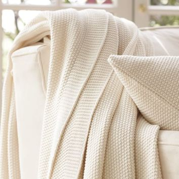FISHERMAN KNIT BLANKET & SHAM