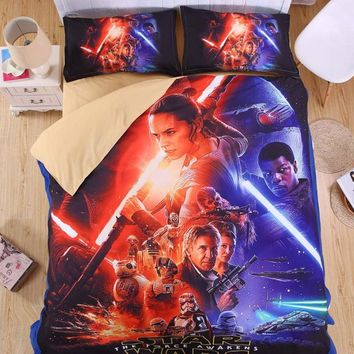Cartoon Bedding Set Star Wars Duvet Cover Set Soft Quilt blanket Cover For Children Kid Gift AU Single Double Queen king size