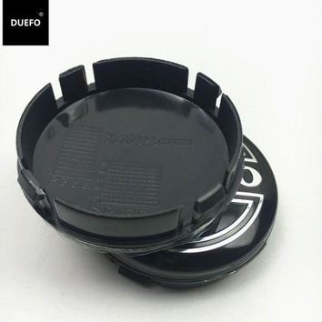 CREYLD1 4pcs 64mm black gray car wheel center caps Hub cap Rims cover emblem badge for Volvo Fit for S60 S80L XC60,3546923 Car styling