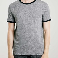 Grey Slim Fit Ringer T-Shirt - Topman