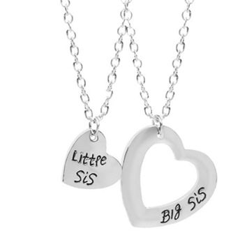Good Sisters Necklace Big Sis Little Sis Fashion Love Stitching Necklace Fashion Jewelry Best Friends Gifts