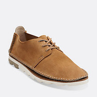 Dakin Walk Cognac Suede - Men's Oxford Shoes - Clarks® Shoes - Clarks