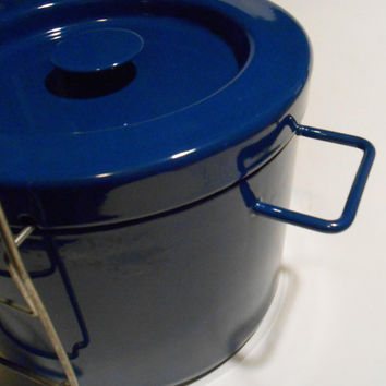 Danish Modern COPCO Michael Lax Deep Fryer Blue Enamel Switzerland Mid Century