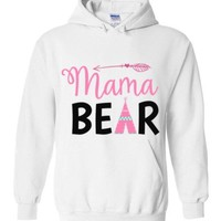 Mama Bear Tepee Hoodies