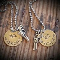 Real Life Thelma and Louise necklace set BFF