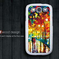 Samsung Galaxy S3 i9300  Galaxy SIII case Case Samsung Case rain and street painting  design