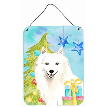 Christmas Tree Japanese Spitz Wall or Door Hanging Prints CK1875DS1216