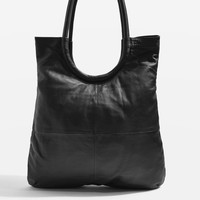 Premium Leather Oversized Tote Bag | Topshop