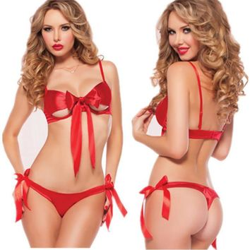 Cute Hot Deal On Sale Set Red Bikini Butterfly Sexy Exotic Lingerie [6595561603]