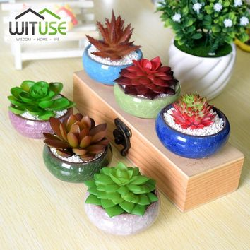 WITUSE Garden Mini Ceramic Flower pot Flowerpot Nursery Pots For Succulent Planter For Home Garden Decor Flower Pots Planters