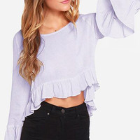 Cupshe Textured Ruffle High-Low Top