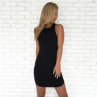 Full Control Bodycon Dress In Black