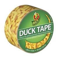 Duck Brand 283040 Printed Duct Tape, Mac'n Cheese, 1.88 Inches x 10 Yards, Single Roll