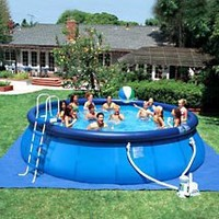 """Sand N Sun 18' x 48"""" Easy Set Swimming Pool with Accessories"""