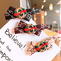 GUCCI New fashion more letter print bow-knot hair clip