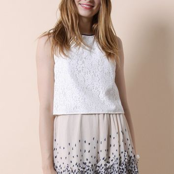 Sweet Bow Back Lace Top