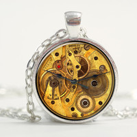 Pendant with Chain - Clock