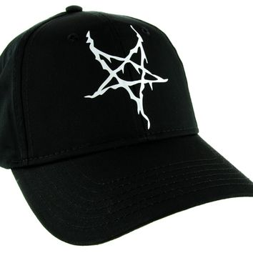 Black Metal Style Inverted Pentagram Hat Baseball Cap Occult Alternative Clothing Snapback
