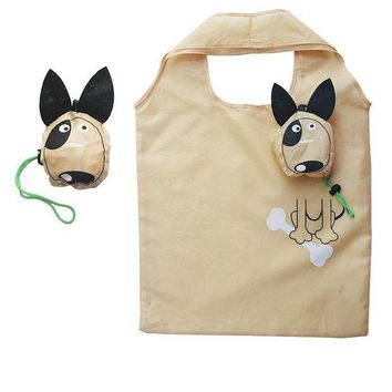 VOND4H Dog Useful Nylon Foldable Eco Reusable Shopping Bags