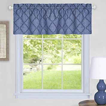 Ben&Jonah Collection Colby Window Curtain Valance - 58x14 - Blue