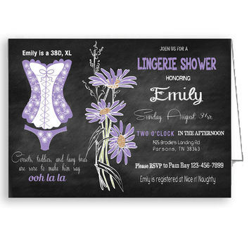 Lingerie Shower Invitation Printable