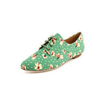 Ditsy Floral Canvas Oxford: Charlotte Russe