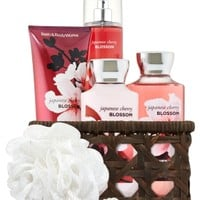 Basket of Favorites Gift Kit Japanese Cherry Blossom