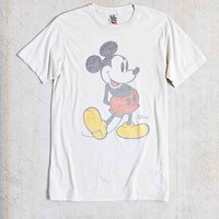 Junk Food Mickey Reverse-Print Tee- White
