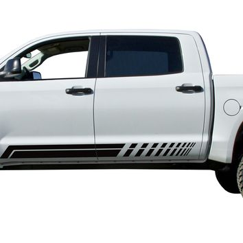 Strobe Aft door stripes Decals Vinyl Stickers Set: fits 2014-2018 Toyota Tundra