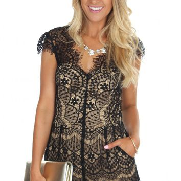 Feathered Lace Romper