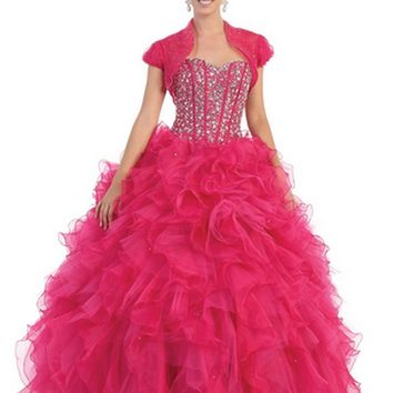 Quinceanera Long Ballgown Formal Prom Dresses