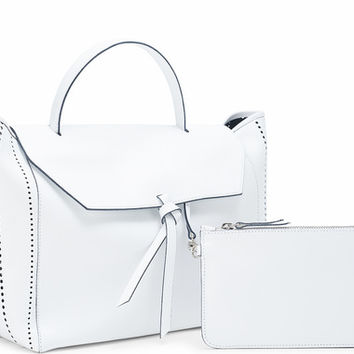 The Satchel - White Perforated