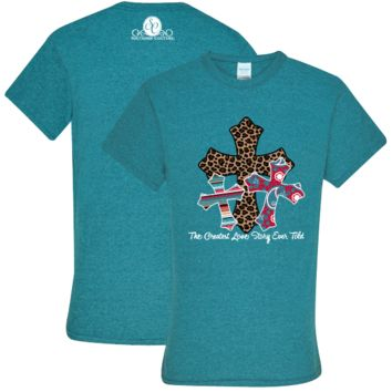 Southern Couture Preppy Greatest Love Story Cross T-Shirt