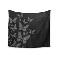"Snap Studio ""Butterflies IV"" White Chalk Wall Tapestry"