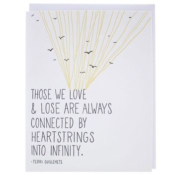 Smudge Ink - Heartstrings Quote Sympathy Card