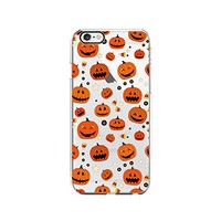Halloween Pumpkin Pattern Transparent Silicone Plastic Phone Case for iphone 6 _ LOKIshop (iphone 6)