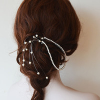 Wedding Hair Accessory, Bridal Headbands,  Rhinestone halo Headband, Wedding Hair Clip, Wedding Hair Vine