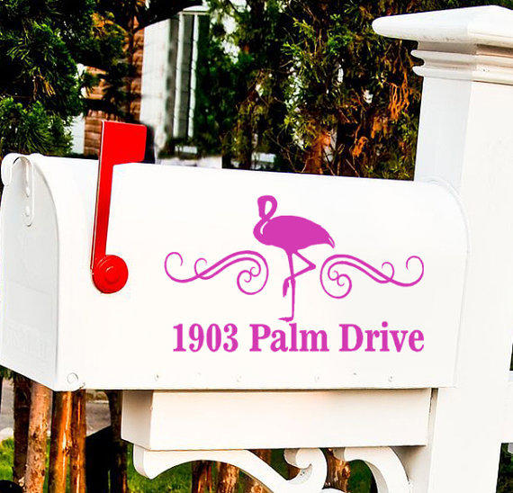 Flamingo Custom Mailbox Decal Sticker From Sealubbers On Etsy