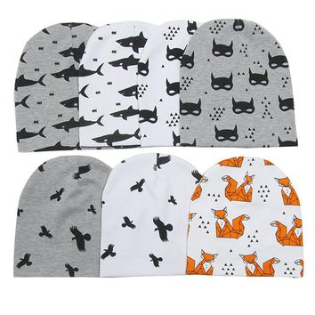 new cotton shark batman fox bear baby beanies collar kids boys girls caps neckwear accessories children hats headwear scarf