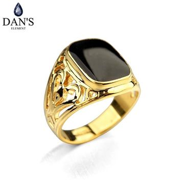 DAN'S New Fashion Dan's Element Luxury Brand Vintage Rings for men wedding New Sale Hot Fi-RG91168R